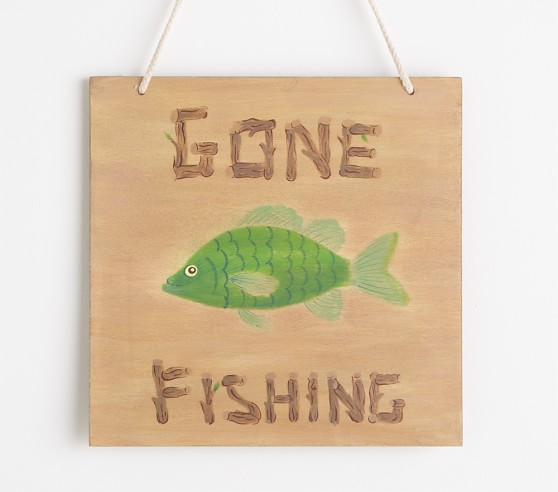 Gone Fishing Plaque Pottery Barn Kids