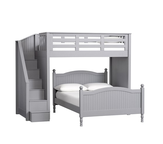 catalina stair loft bed lower bed set pottery barn kids