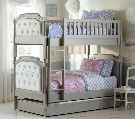 Kids twin bed white - Blythe Twin Over Twin Bunk Bed Pottery Barn Kids