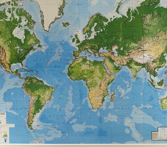 jumbo world map mural pottery barn kids jumbo murals for 025 j