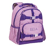 Mackenzie Lavender Dot Backpack, Large