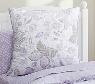 Evelyn Butterfly Euro Sham, Lavender