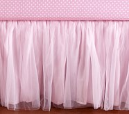 Tulle Crib Skirt, Pink