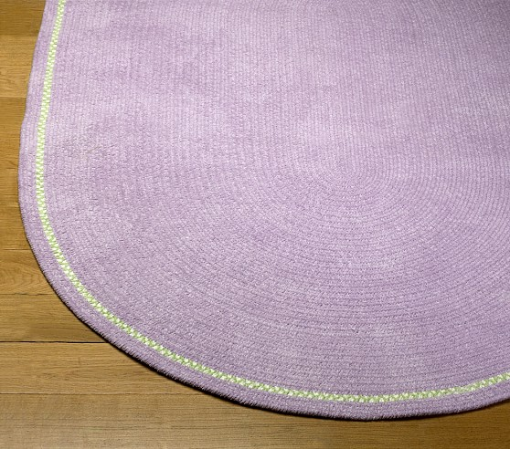 Lavender Amy Chenille Braid Rug Swatch