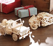 Remote Control Wooden Motorcycle