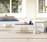 Enamel Nursery Storage, Diaper Caddy