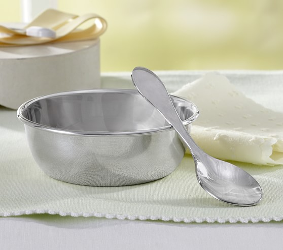 Silver Keepsake Spoon & Bowl Set