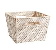 Large Quinn White Washed Basket