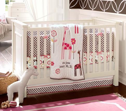 Ava Mod Giraffe Nursery Bumper Bedding Set