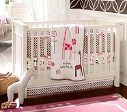 Nursery Bumper Bedding Set: Crib Skirt, Crib Fitted Sheet & Bumper
