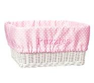 Extra-Large Sabrina Basket Mini Dot Liner, Pink Mini Dot