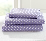 Mini Dot Toddler Sheet Set, Lavender