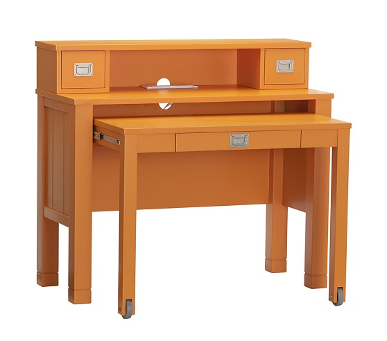 Riley Desk Hutch, Russet Orange