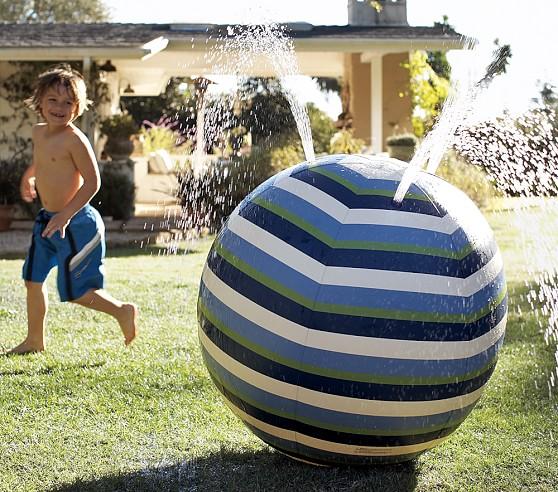 Beach Ball Sprinkler, Blue/Green