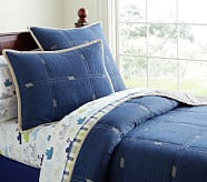 Easton Quilt, Twin, Denim