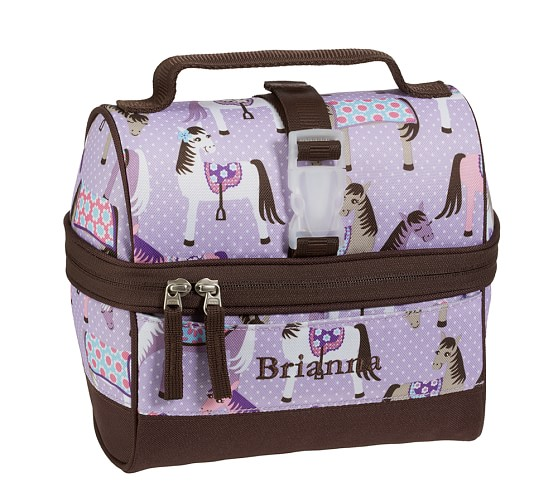 Mackenzie Lavender Horse Retro Lunch Bag