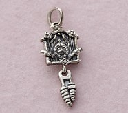 Cuckoo Clock Silver Necklace, January