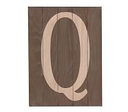 Wood Planked Letter, Q