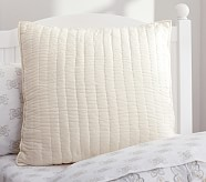 Silk Channel Euro Sham, Ivory