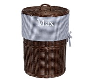 Navy Gingham Hamper Liner