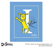Dr. Seuss™ Alphabet Prints, Letter I, Blue, Itchy