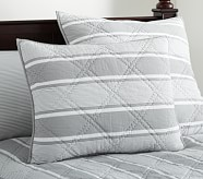 Jackson Standard Quilted Sham, Gray