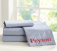 Gingham Standard Pillowcase, Navy