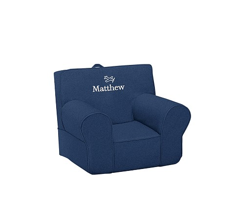Denim Anywhere Chair Slipcover