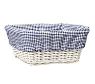 Navy Gingham Sabrina Liner, Medium