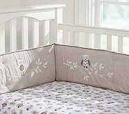 Hadley Chamois Crib Fitted Sheet