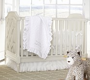 Fairy Toile Nursery Quilt Bedding Set: Crib Fitted Sheet, Toddler Quilt & Crib Skirt