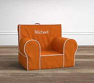 Orange with White Piping Anywhere Chair®