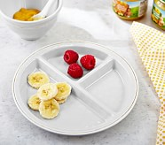 Gray Baby Cambria Divided Plate & Bowl