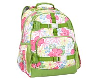 Mackenzie Pink Hibiscus Large Backpack