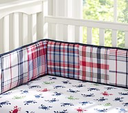 Crab Madras Crib Fitted Sheet