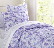 Lillian Floral Quilt, Lavender, Twin