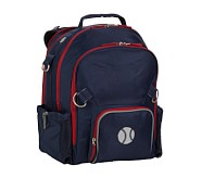 Fairfax Navy/Red Large Backpack, Baseball