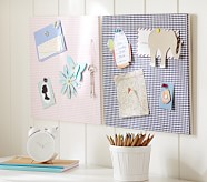 Stanton Gingham Pinboard, Pink