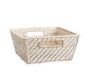 Medium Quinn White Washed Basket