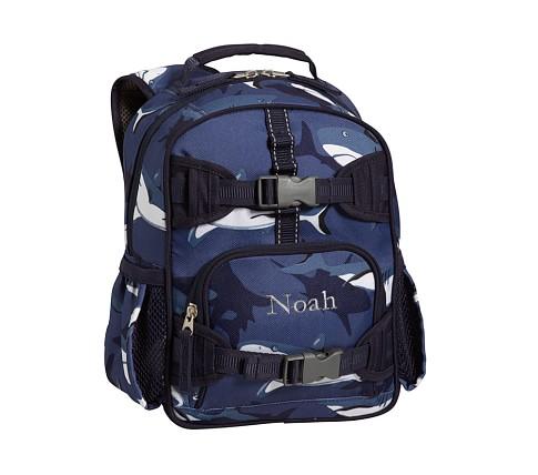 Mackenzie Blue Shark Mini Backpack