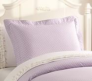 Mini Dot Standard Sham, Light Lavender