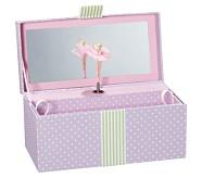 Lavender Dot Sadie Jewelry Box, Rectangle