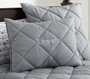 Dylan Standard Quilted Sham, Gray