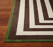 Capel Spiral Rectangle Rug 9x12' Brown and Green