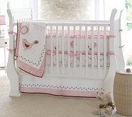 Bethany Nursery Quilt Bedding Set: Crib Fitted Sheet, Toddler Quilt & Crib Skirt