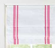 "Harper Roman Shade 26 x 64"" Panel, Bright Pink"