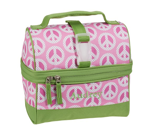 Mackenzie Pink Peace Retro Lunch Bag