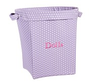 Mini Dot Large Canvas Storage, Lavender
