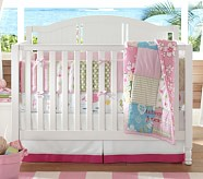 Key West Nursery Quilt Bedding Set: Toddler Quilt, Crib Skirt & Crib Fitted Sheet, Pink