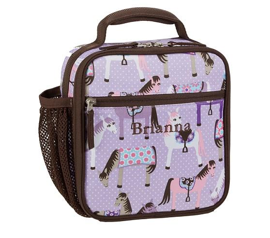 Mackenzie Lavender Horse Classic Lunch Bag